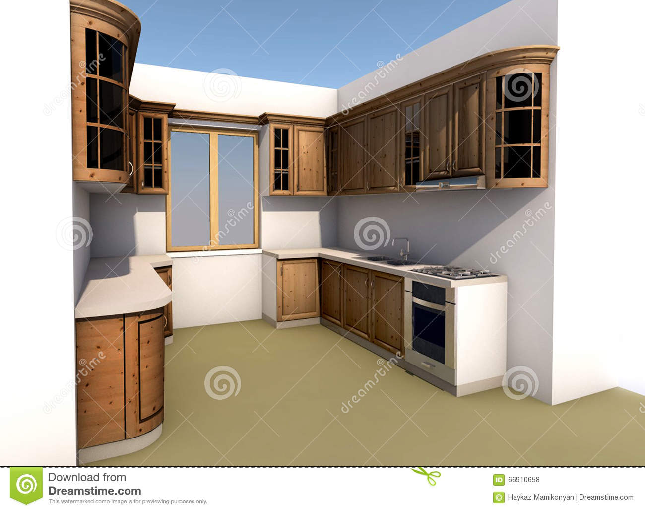 Autocad For Kitchen Design Kitchen Design Stock Illustration Image 66910658