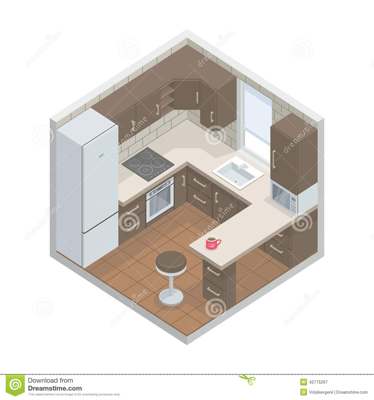Kitchen Stock Vector Image 42775267