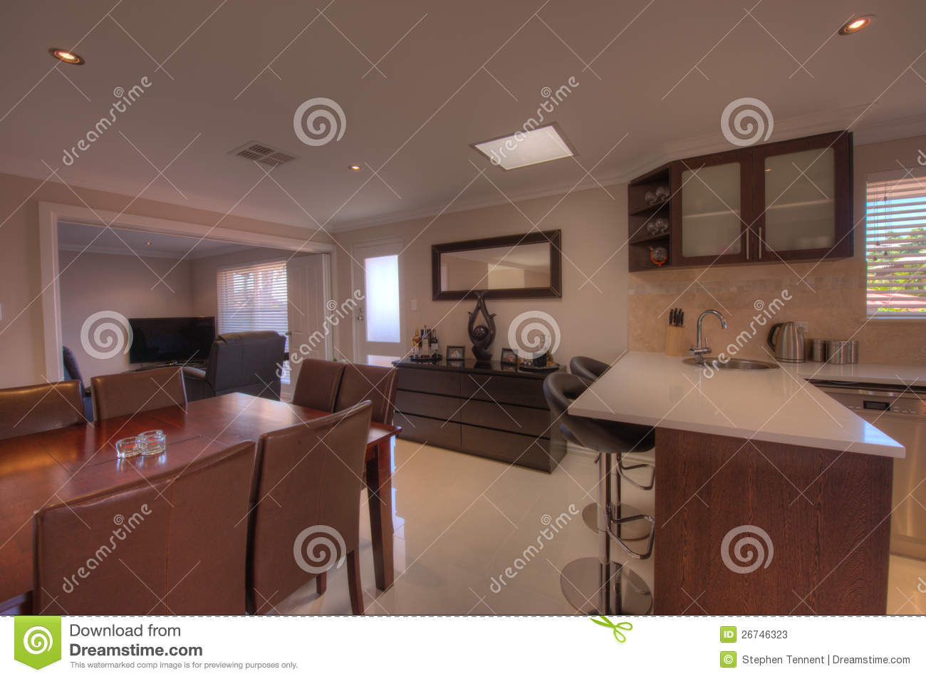 Kitchen and dining room in luxury home stock photos image 26746323 - Luxury kitchen room ...