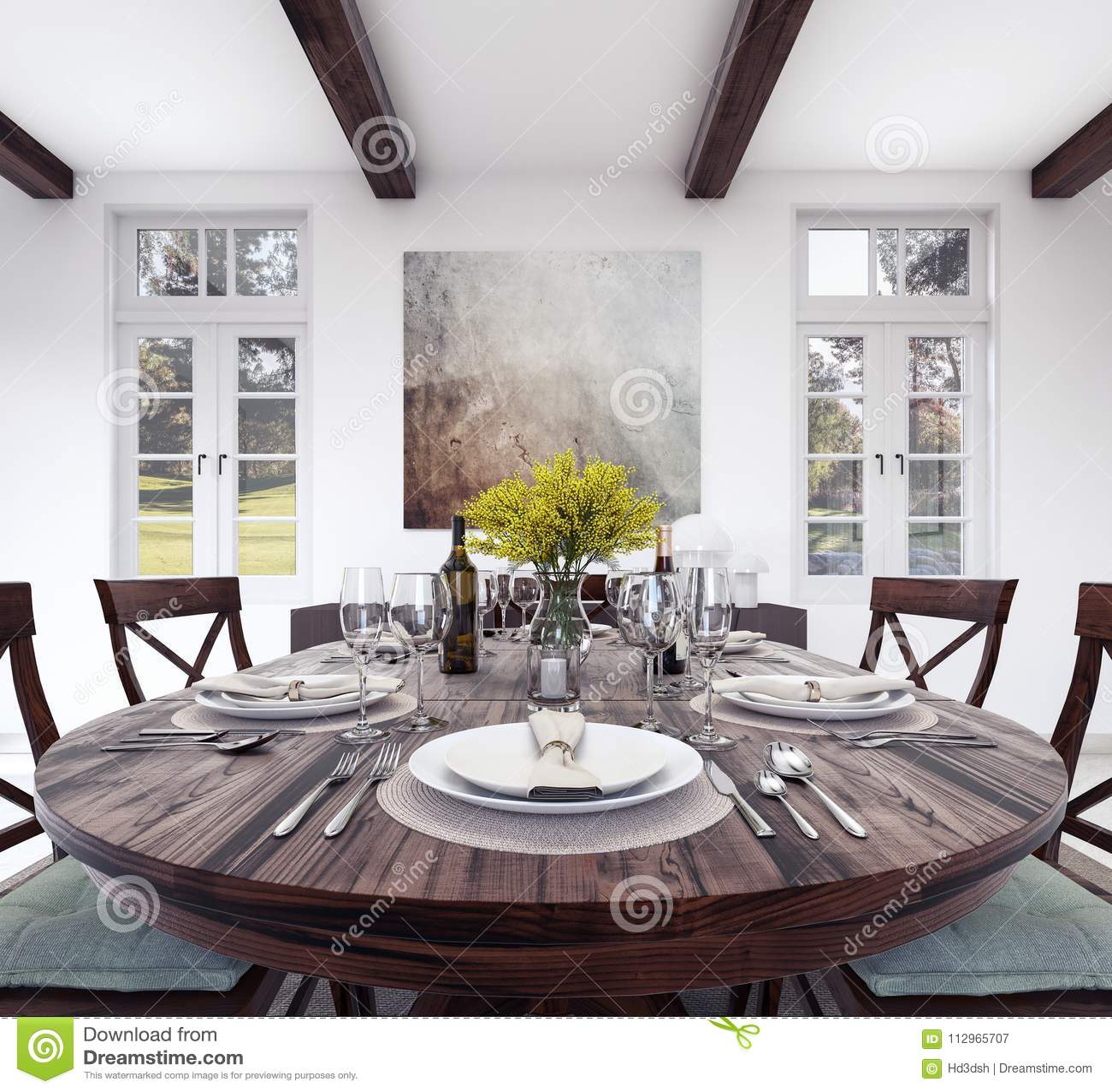 Dinner Table Stock Illustrations