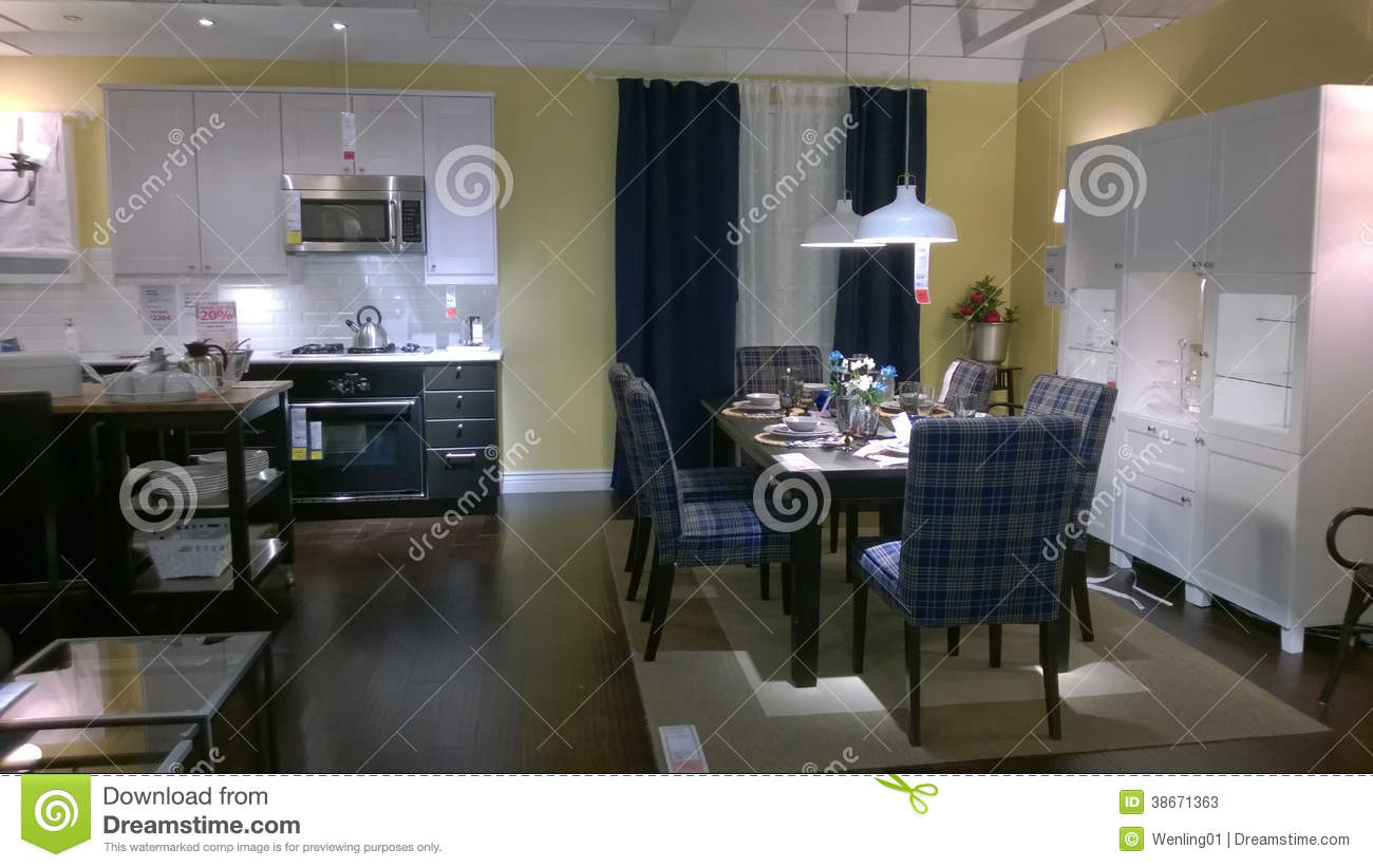 Kitchen And Dinning Room Design Editorial Stock Photo Image 38671363