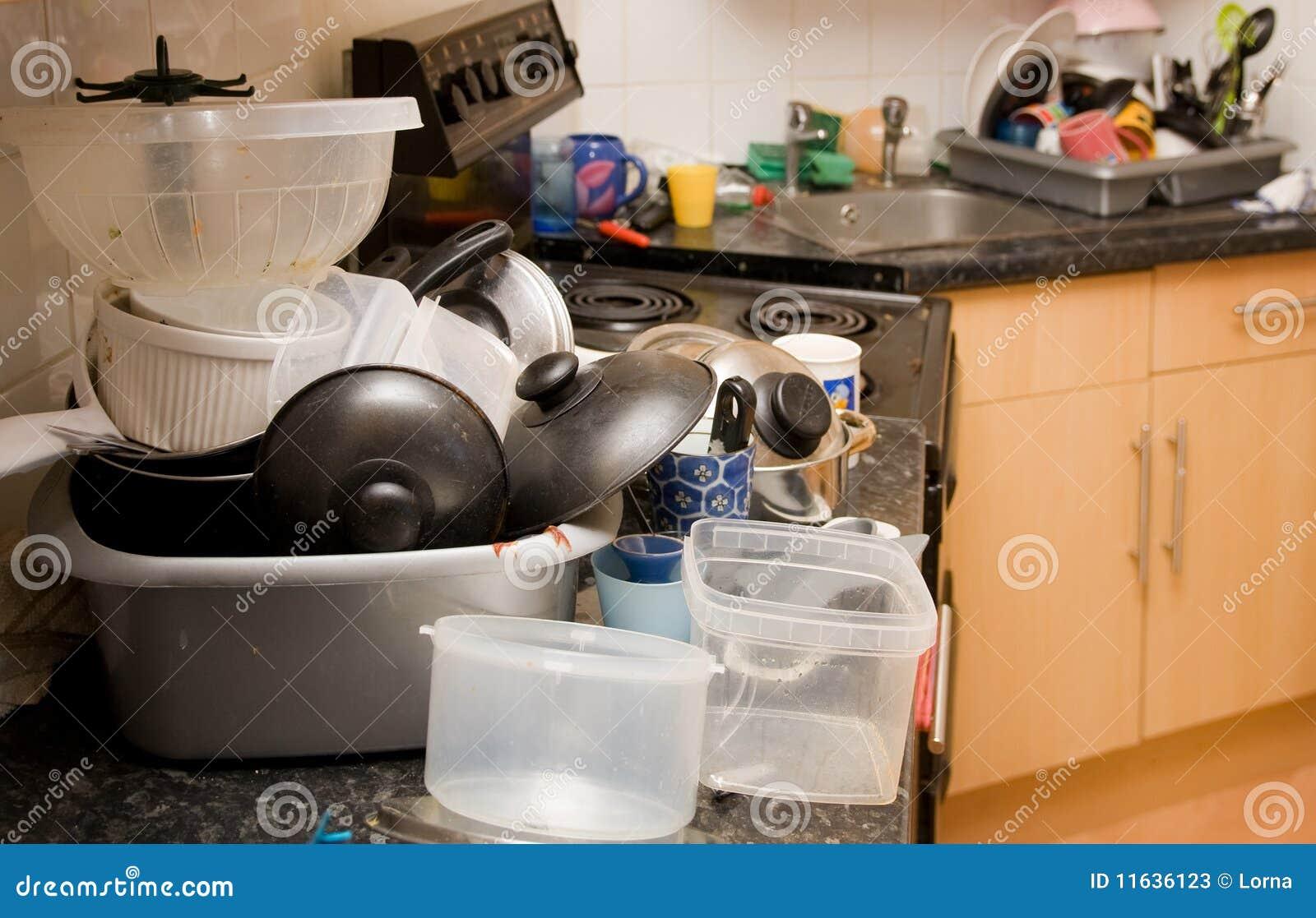 Kitchen Dirty Mess Washing Up Stock Photos Image 11636123