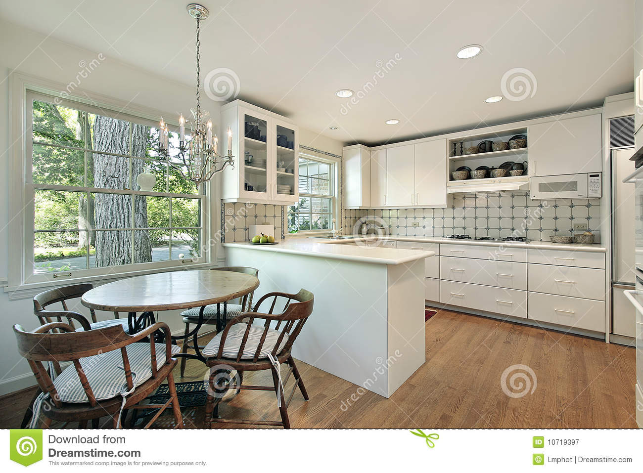 Kitchen With Eating Area Stock Image Image Of Residence