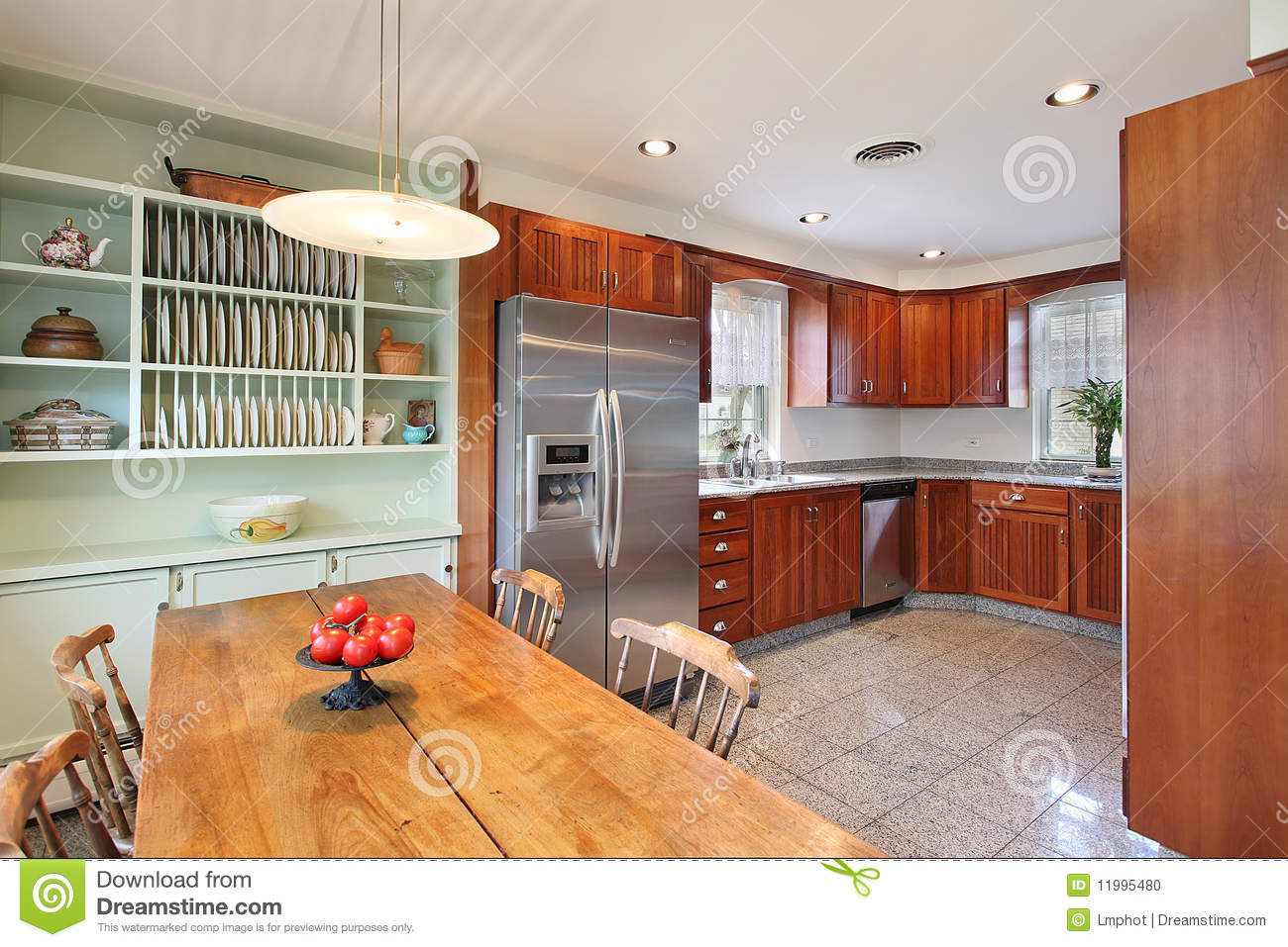 Kitchen With Eating Area Stock Photo Image 11995480