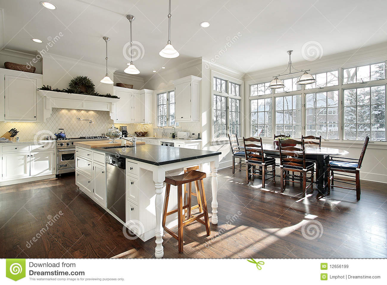 kitchen with eating area royalty free stock images image