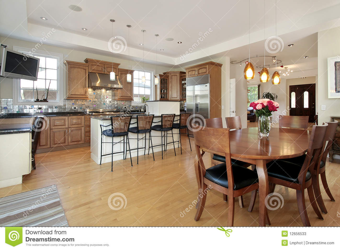 Kitchen And Eating Area Stock Photos Image 12656533