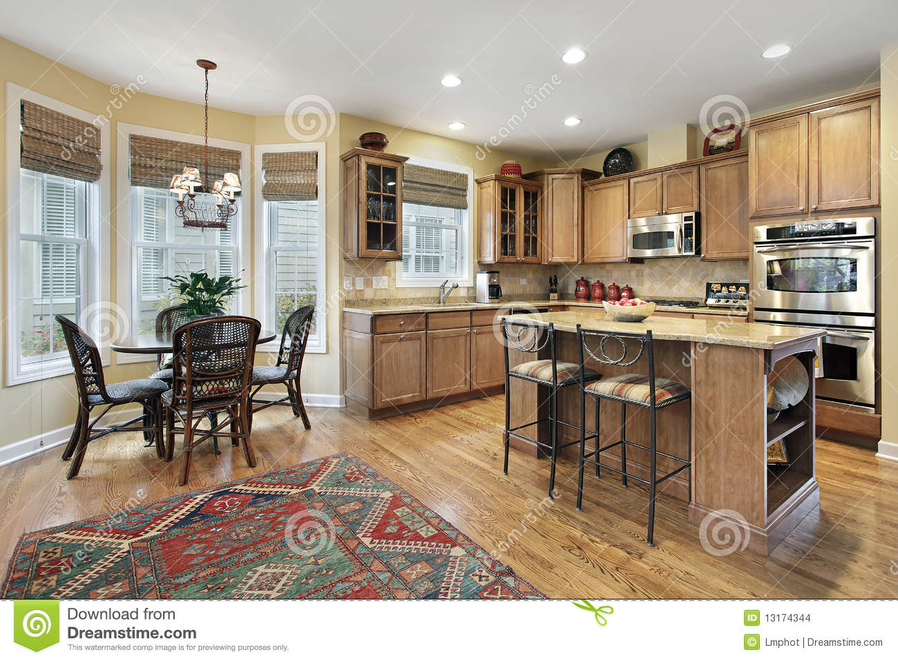 Kitchen With Eating Area Stock Images Image 13174344