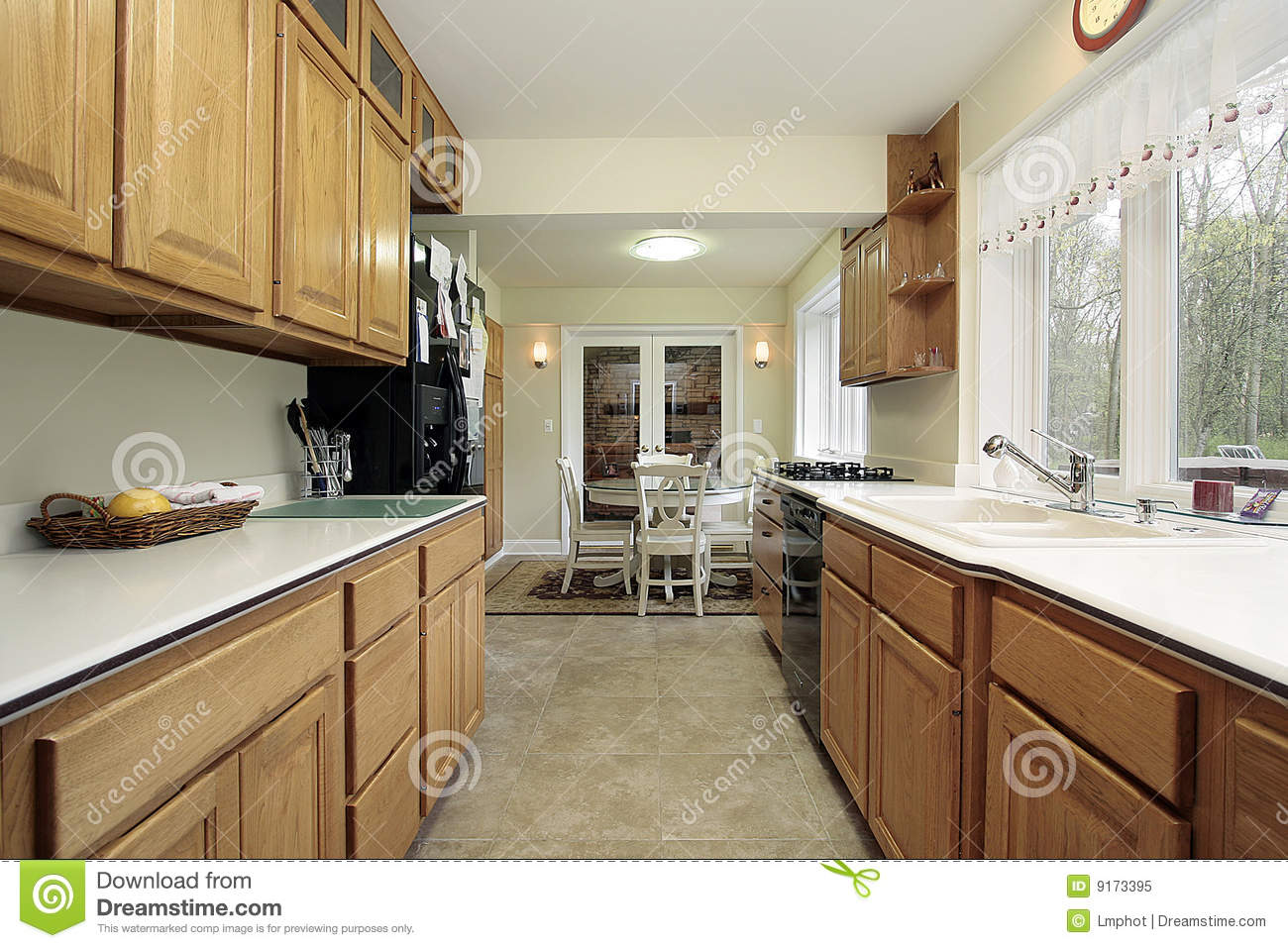 Kitchen With Eating Area Royalty Free Stock Photo Image