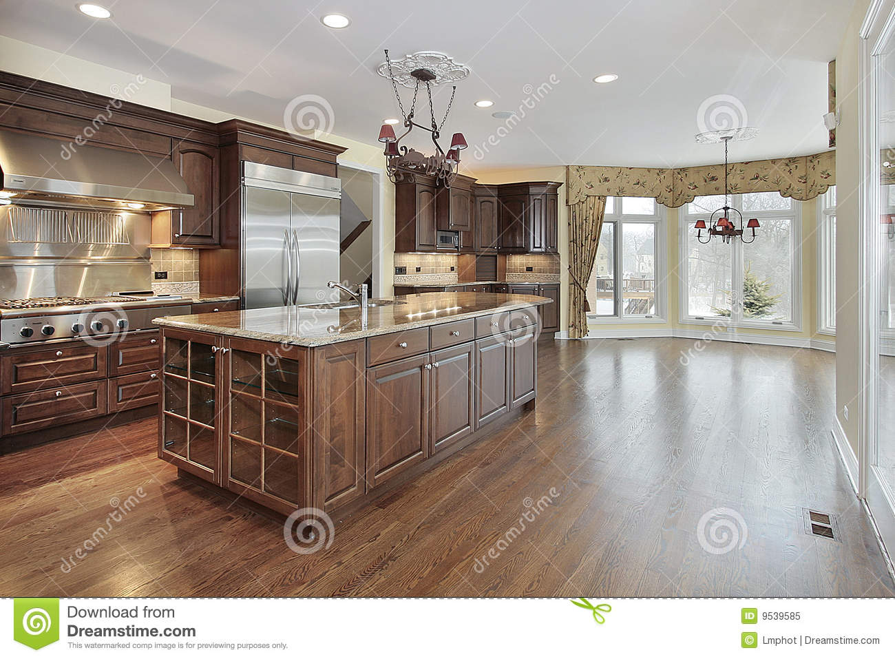 kitchen and eating area royalty free stock photo image