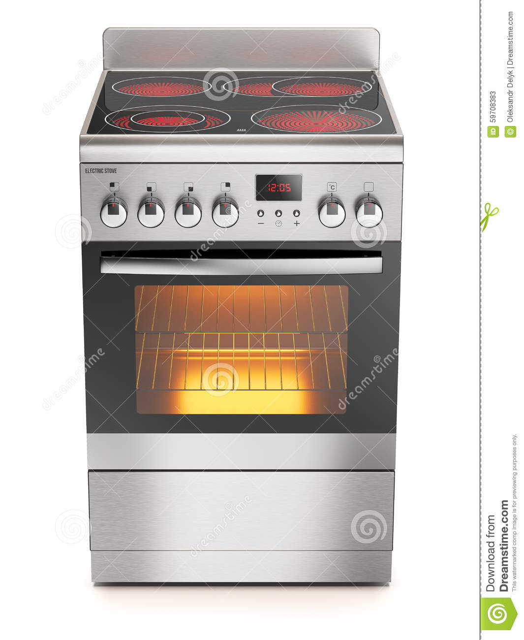 Kitchen Electric Stove Stock Illustration Image Of