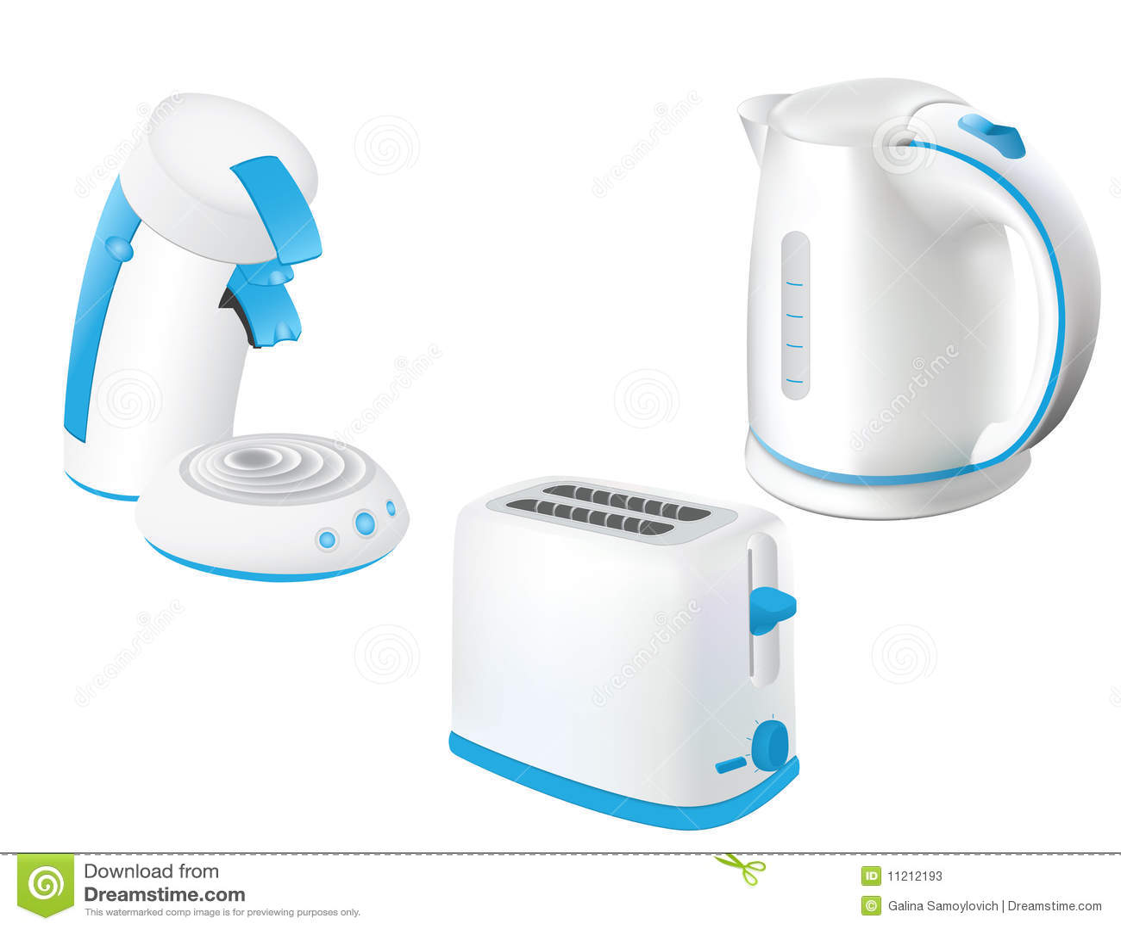 Kitchen Electrical Appliances : Kitchen Electrical Appliances Stock Photos - Image: 11212193