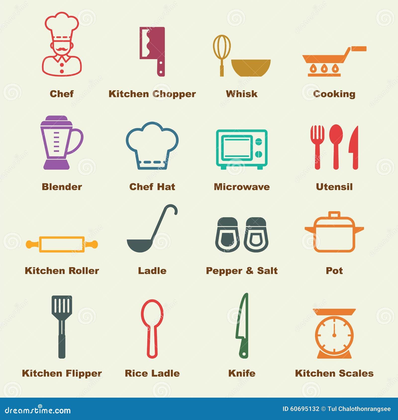 Cuisine Element: Kitchen Elements Stock Vector. Illustration Of Pictogram