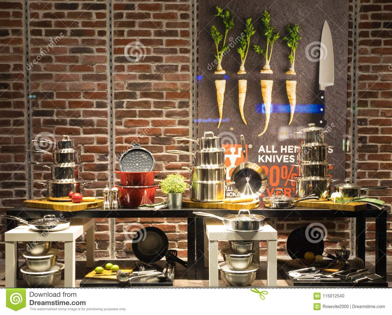 Kitchen Equipment Display In The Store Editorial Image ...