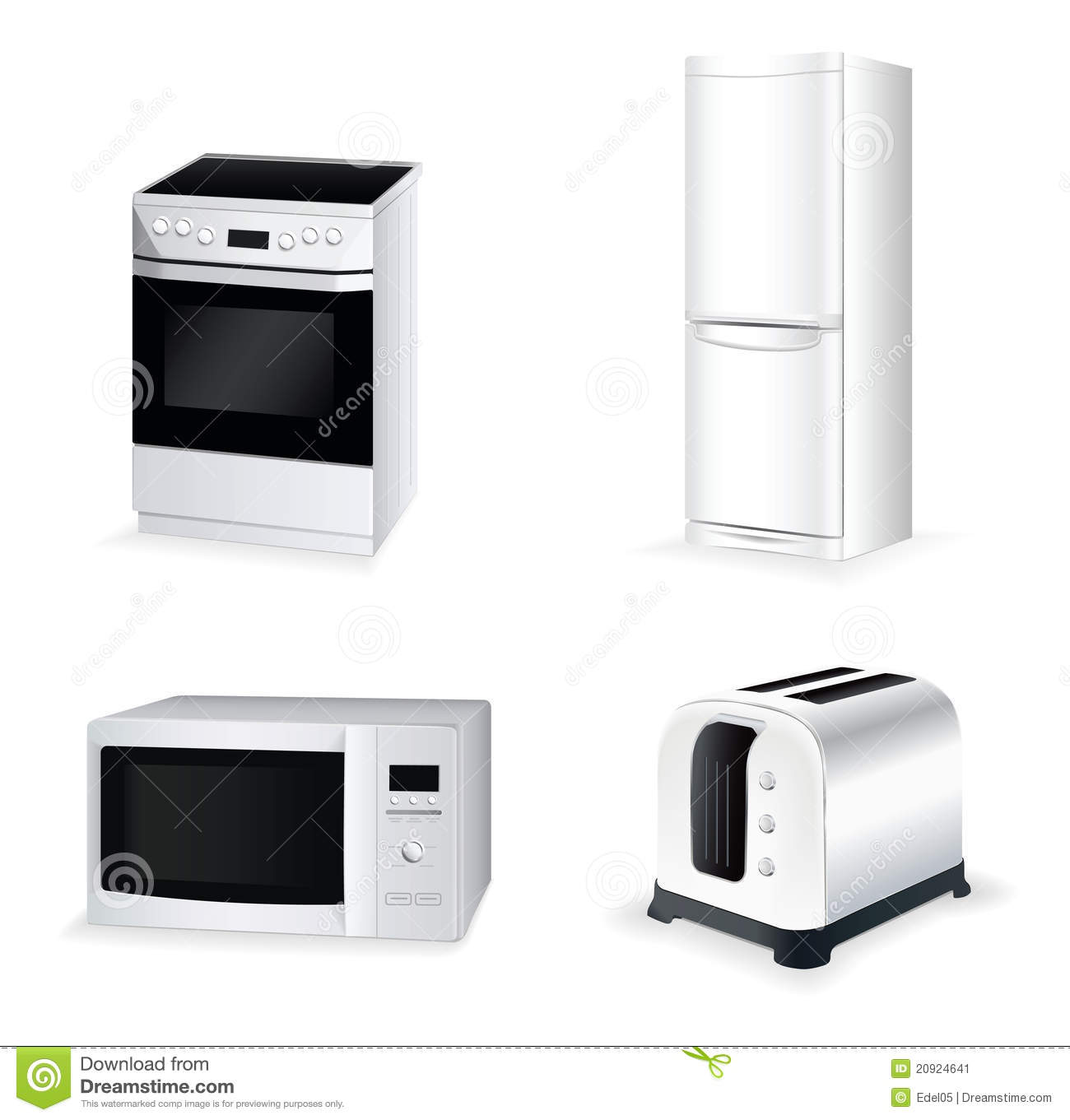 Home Kitchen Equipment Kitchen Equipment Vector Icon Set Stock Image  Image 20924641