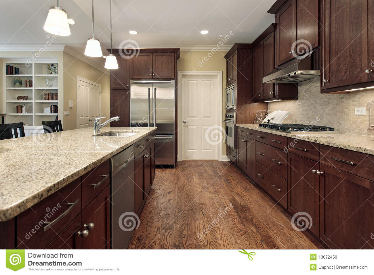 Kitchen And Family Room Kitchen And Family Room Royalty Free Stock Photo Image 12656305