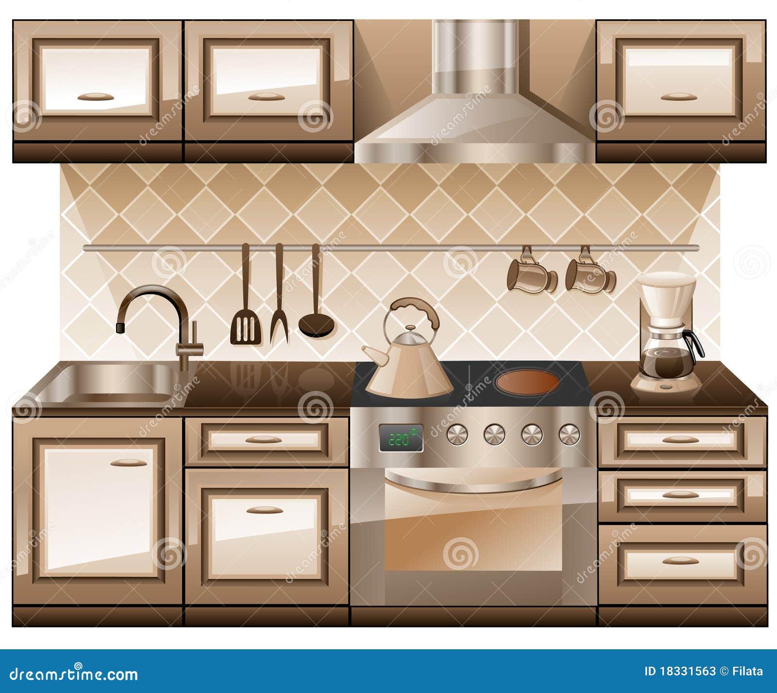 Kitchen Furniture Photos: Kitchen Furniture. Stock Photos