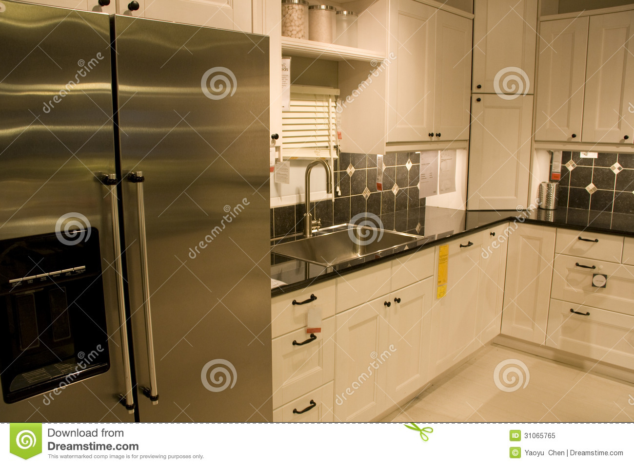 kitchen furniture store royalty free stock photo image
