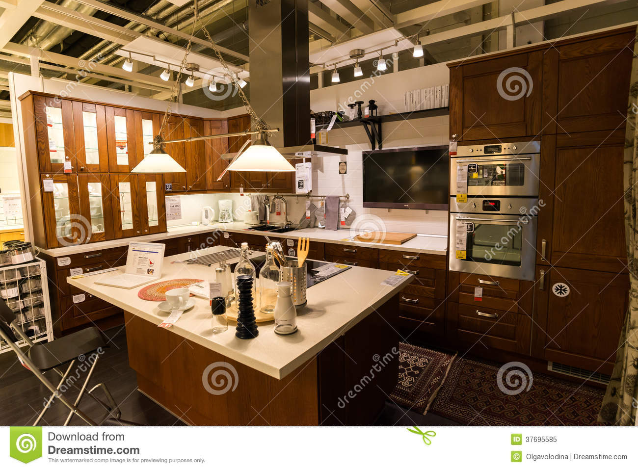 Kitchen In The Furniture Store Ikea Editorial Image