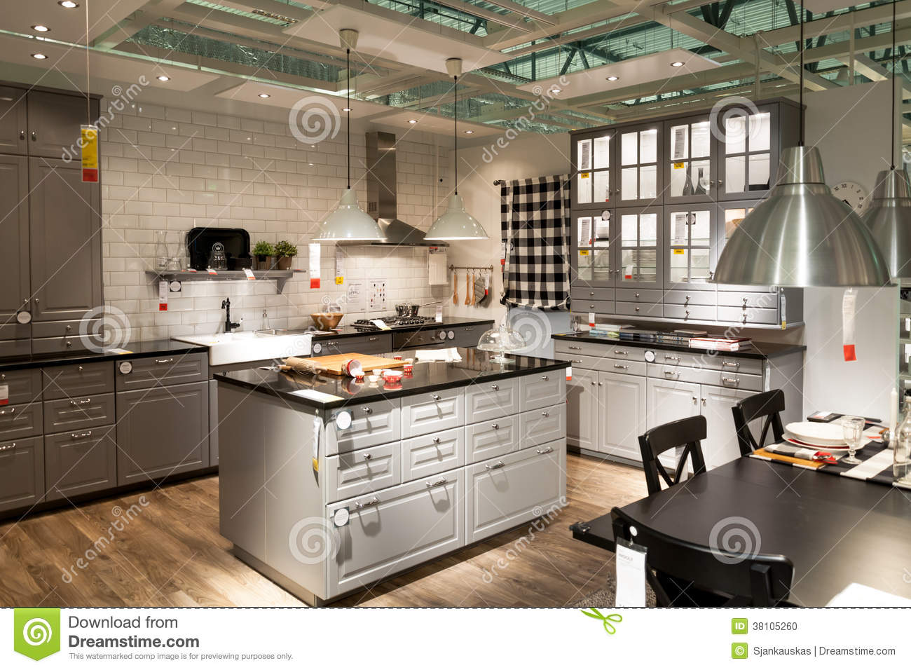 kitchen in furniture store ikea editorial image image