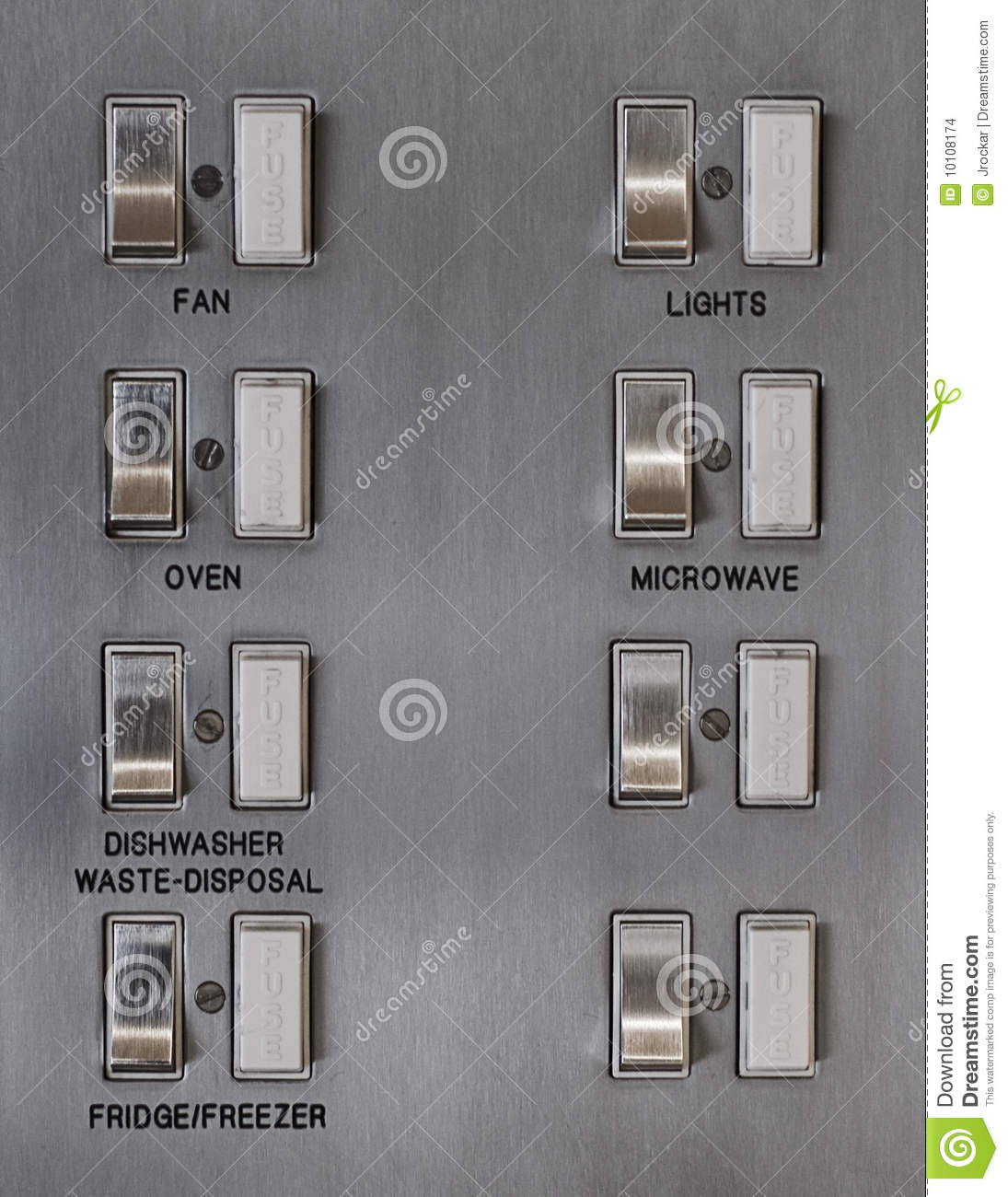 Fuse Box Kitchen Data Wiring Diagram Today Main Breaker Stock Photo Image Of Residence Lights 10108174 Circuit