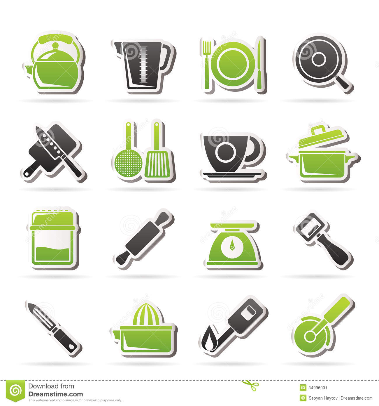 Kitchen Gadget Kitchen Gadgets And Equipment Icons Royalty Free Stock Photography