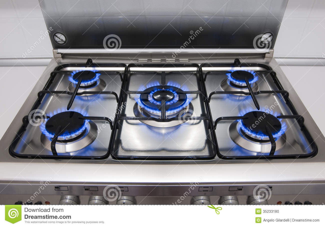 Kitchen Gas Hob ~ Kitchen gas flames stock photo image of object cooking