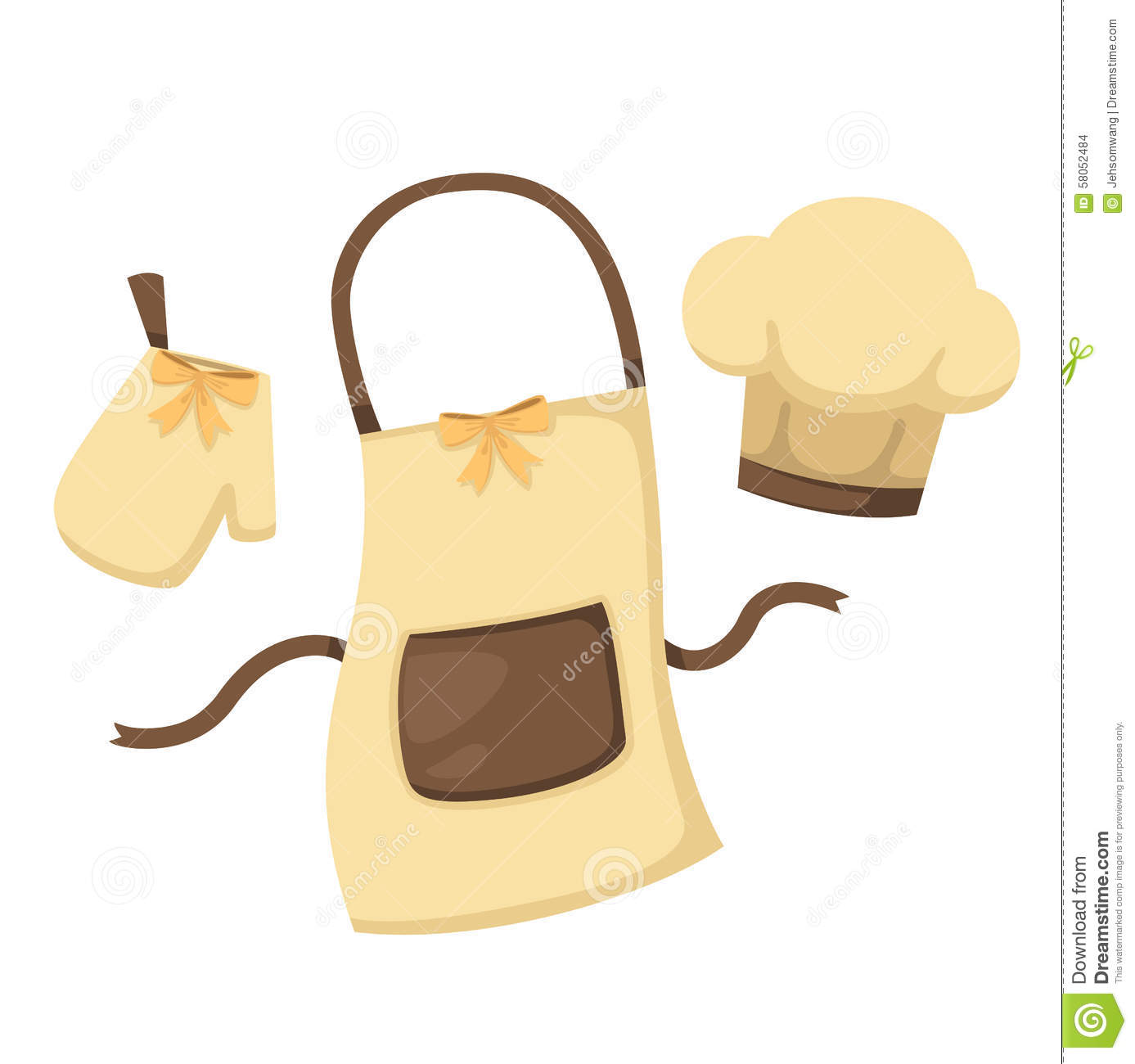 White apron and chef hat