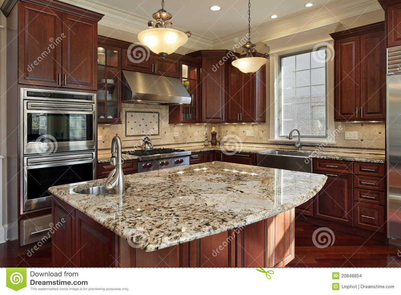 Kitchen With Granite Kitchen With Granite Island Stock Images Image 20848854