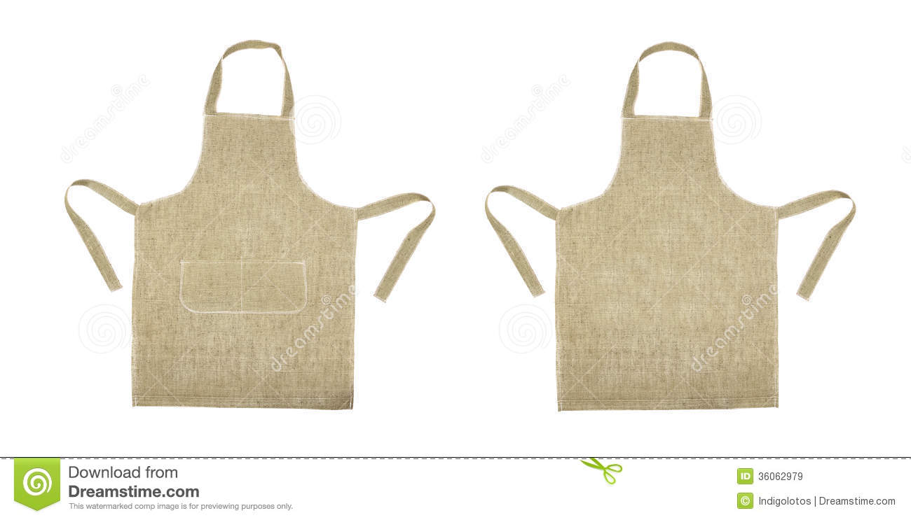 Apron Front : Kitchen Gray Apron. Front And Back View Royalty Free Stock Images ...