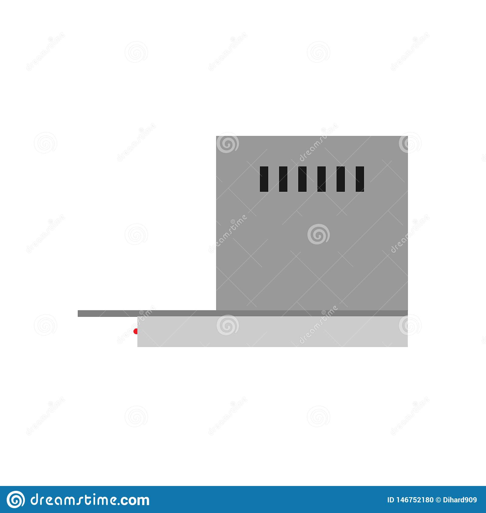 Kitchen Hood Air Extractor Filter Symbol Flat Icon