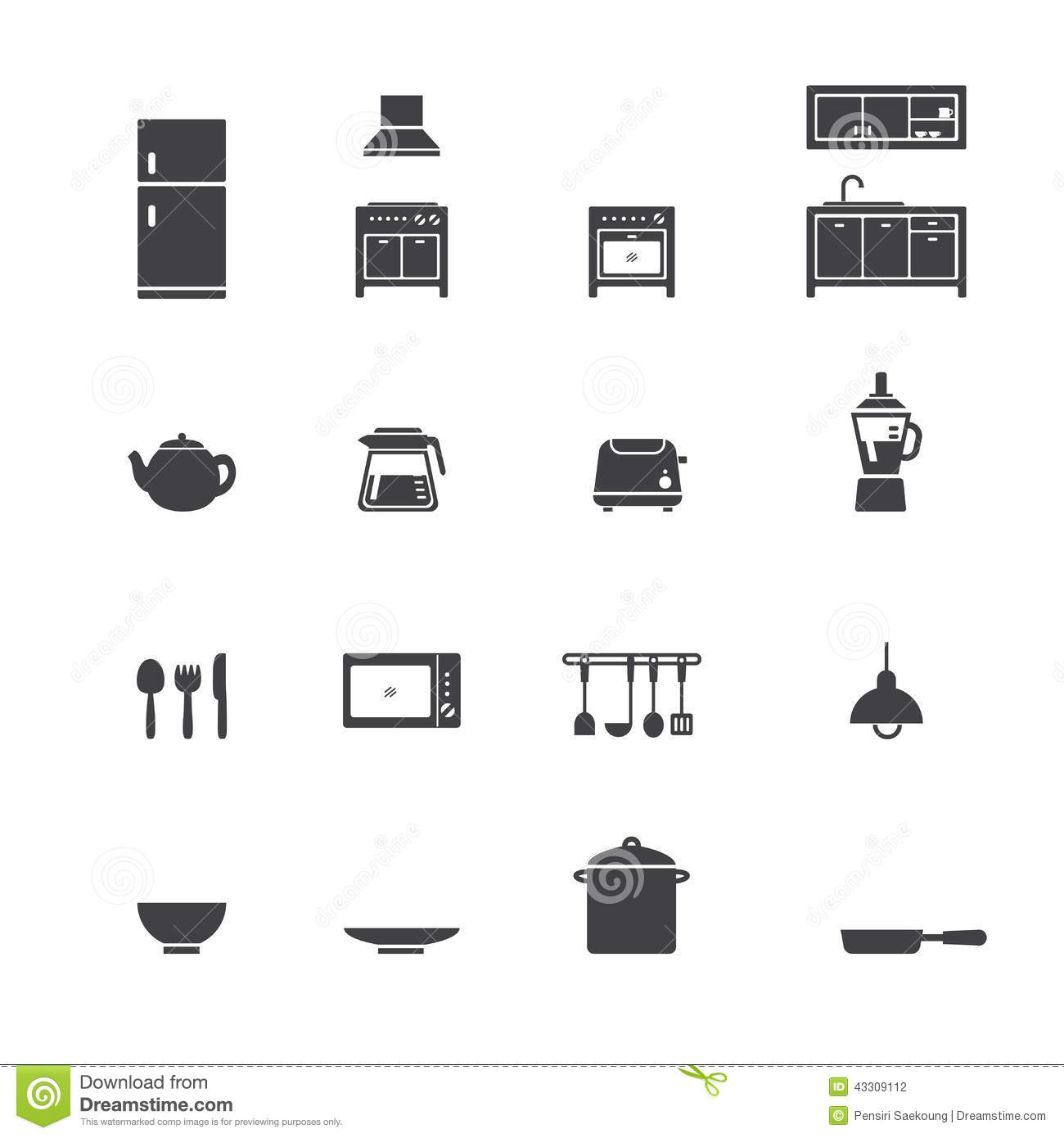 kitchen design symbols kitchen icon set stock vector image of lamps icon 932