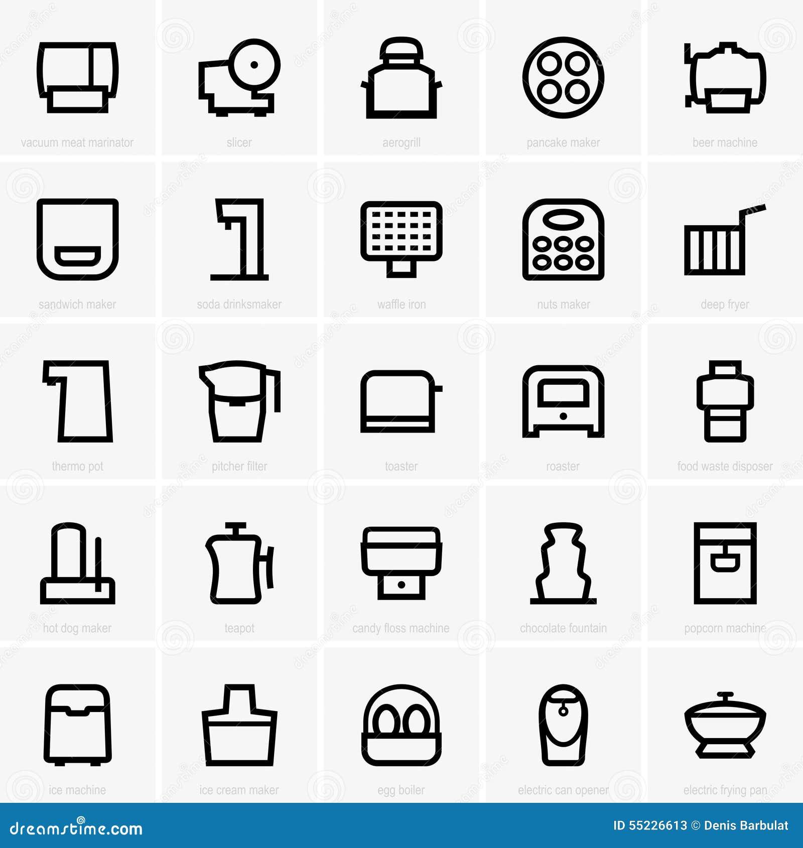 Kitchen icons (part 2)