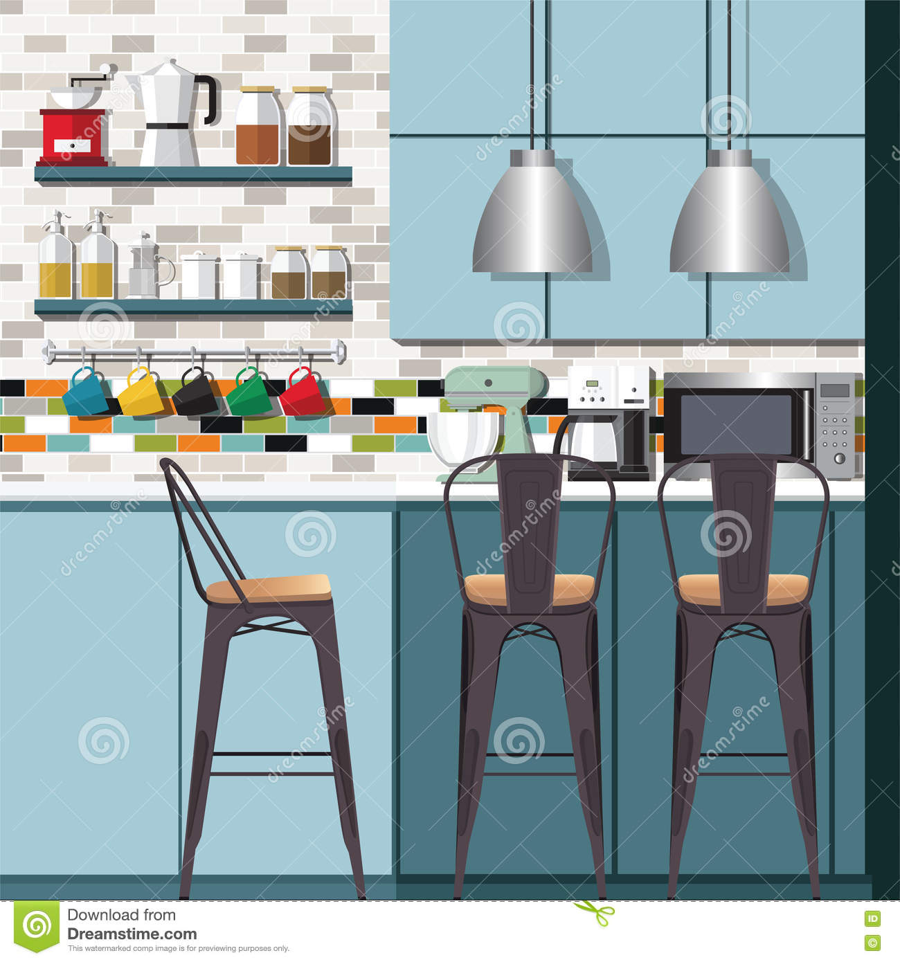 Kitchen Ideas Design Stock Vector Image 71207279