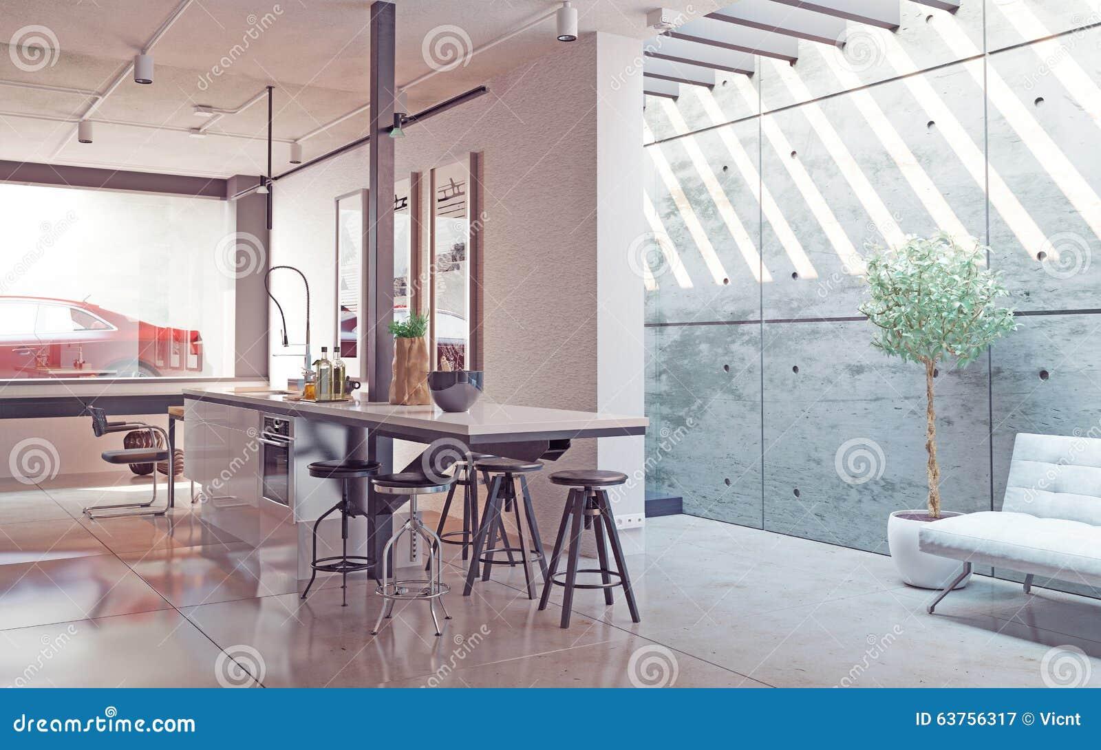 Kitchen Interior Stock Illustration Image 63756317