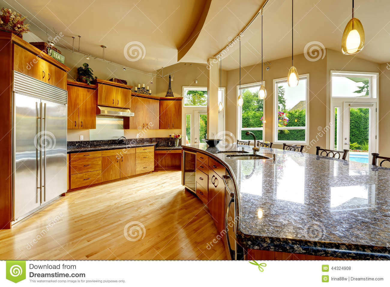 Kitchen Interior In Luxury House Real Estate In Wa Stock Photo Image 44324908