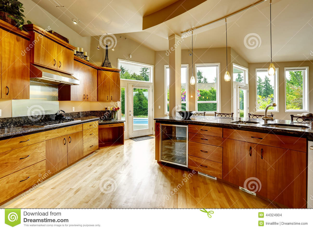 Kitchen Interior In Luxury House Real Estate In Wa Stock