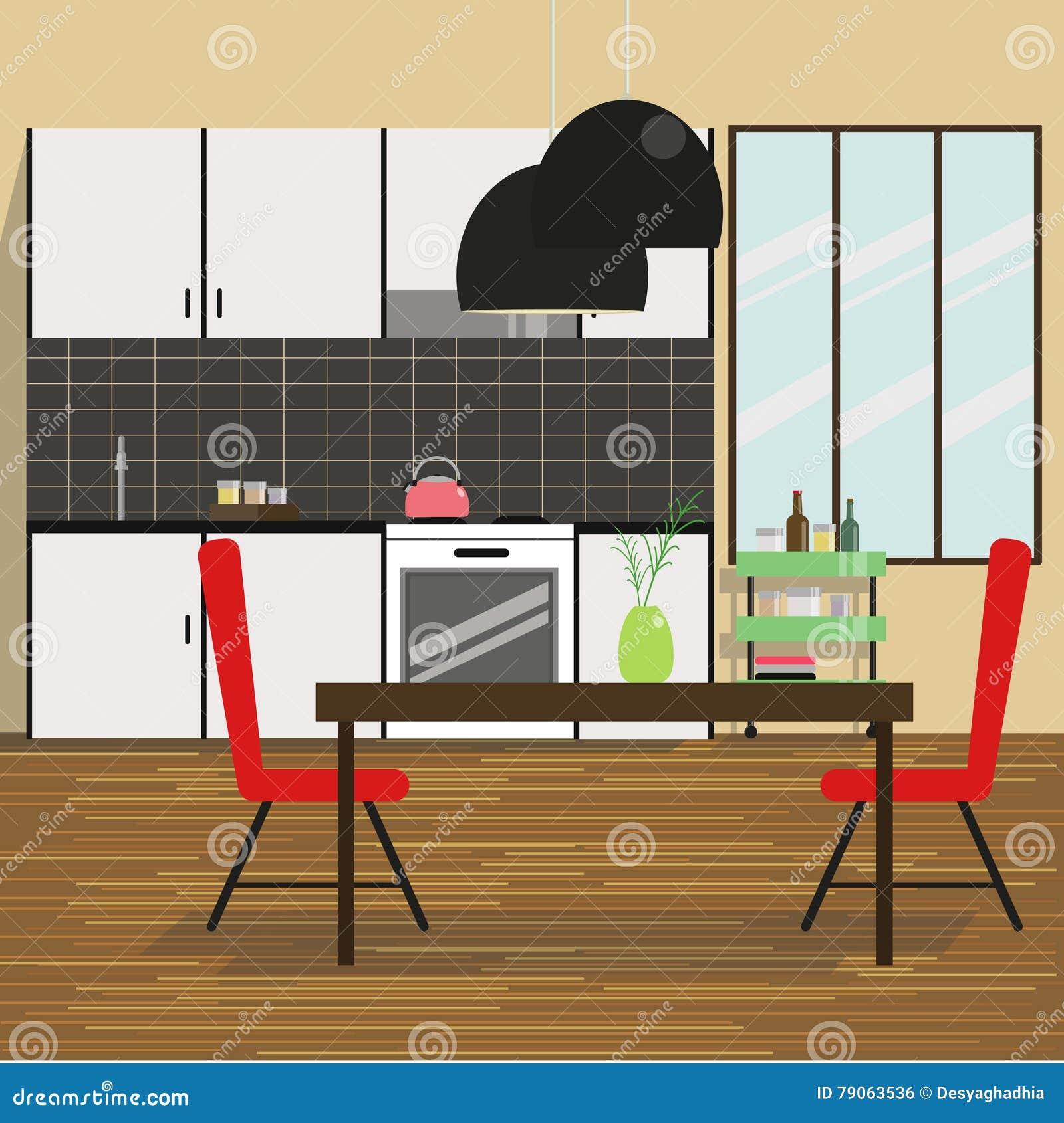Kitchen Interior Stock Vector Illustration Of Isolated 79063536