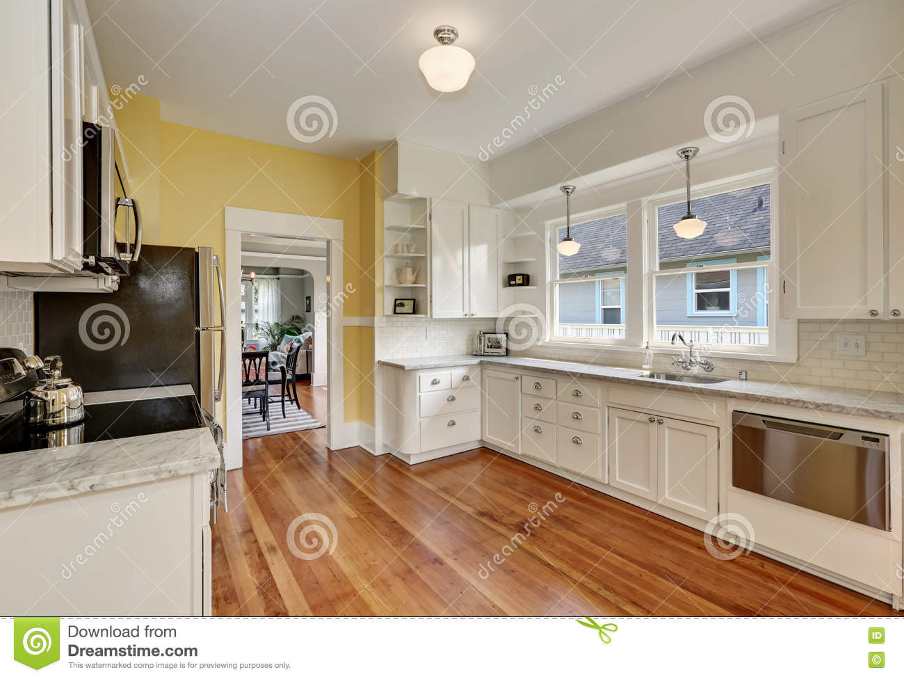 white kitchen cabinets yellowing kitchen interior with white cabinets yellow walls and 29063