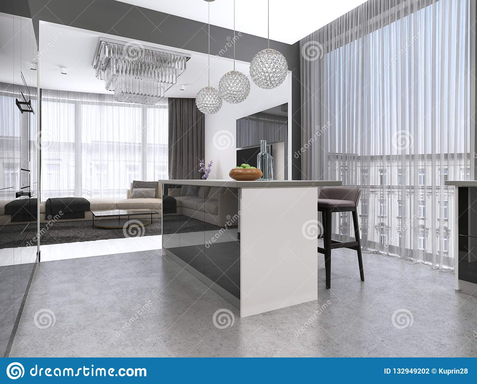 Sensational Kitchen Island With Three Bar Stools And Round Glass Gamerscity Chair Design For Home Gamerscityorg