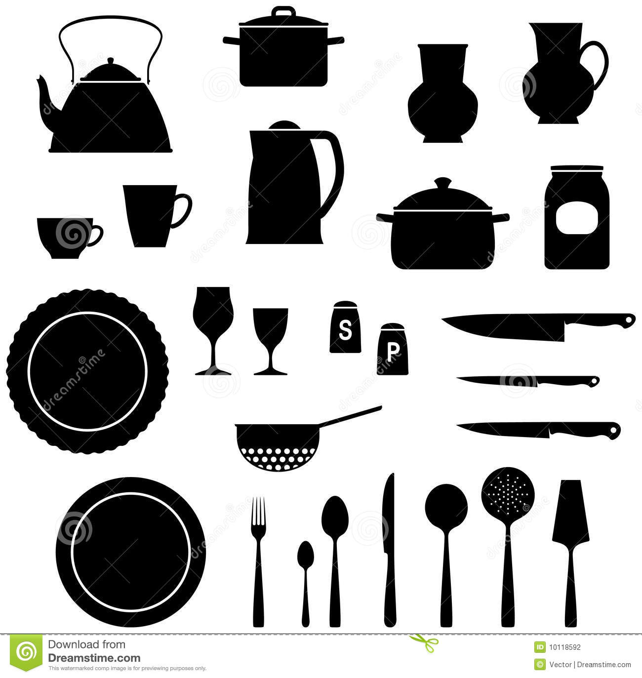 Kitchen appliances clipart - Kitchen Items Vector Illustration Stock Photography Image