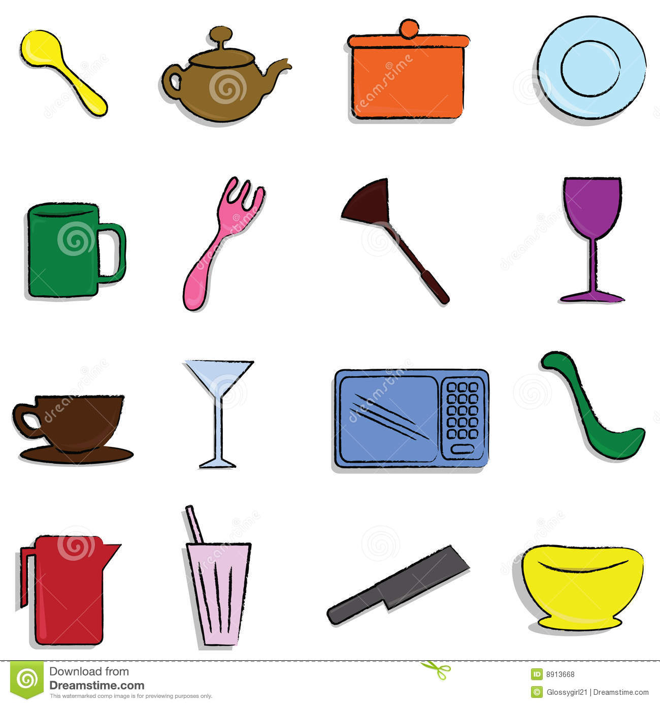 Kitchen Items Royalty Free Stock s Image