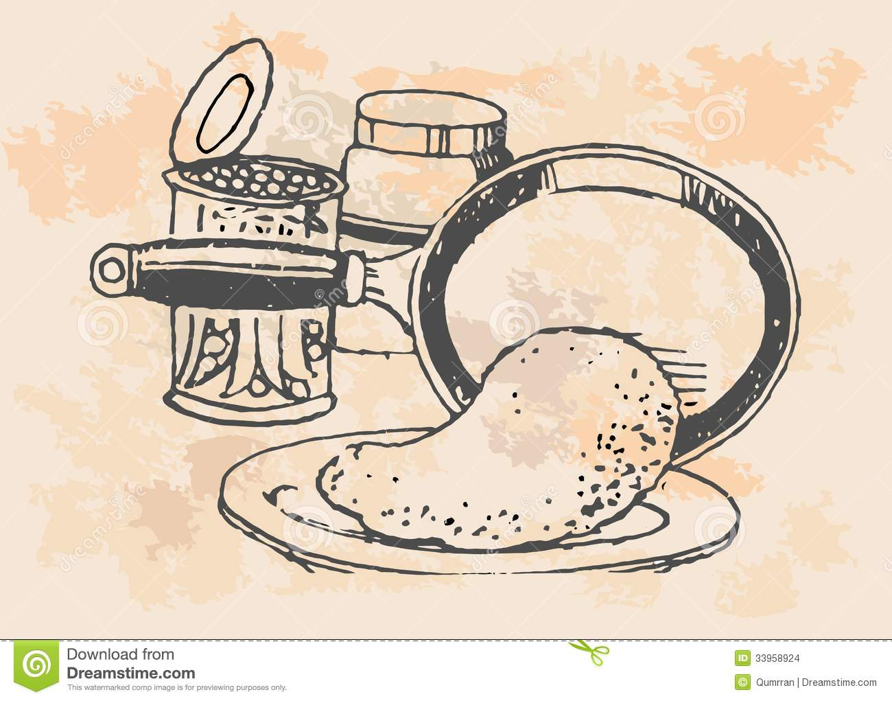 kitchen items in vintage style stock images  image, Kitchen design