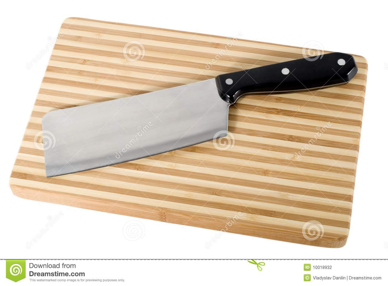 kitchen knife on cutting board stock photography image