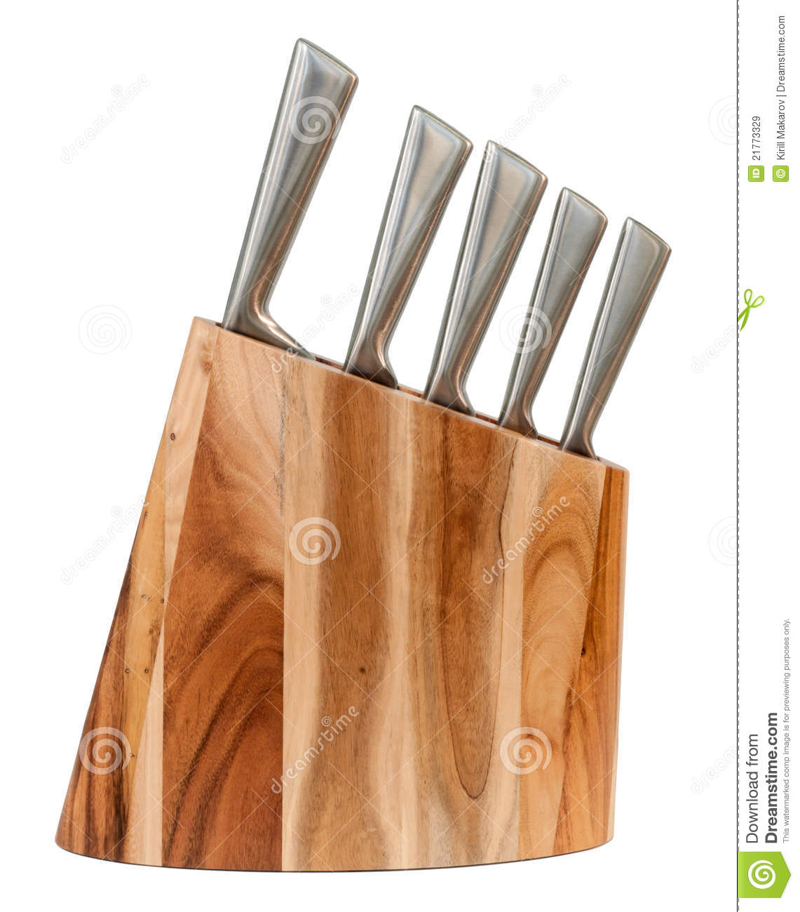 Kitchen Knife Set In A Wooden Block Royalty Free Stock Images - Image ...