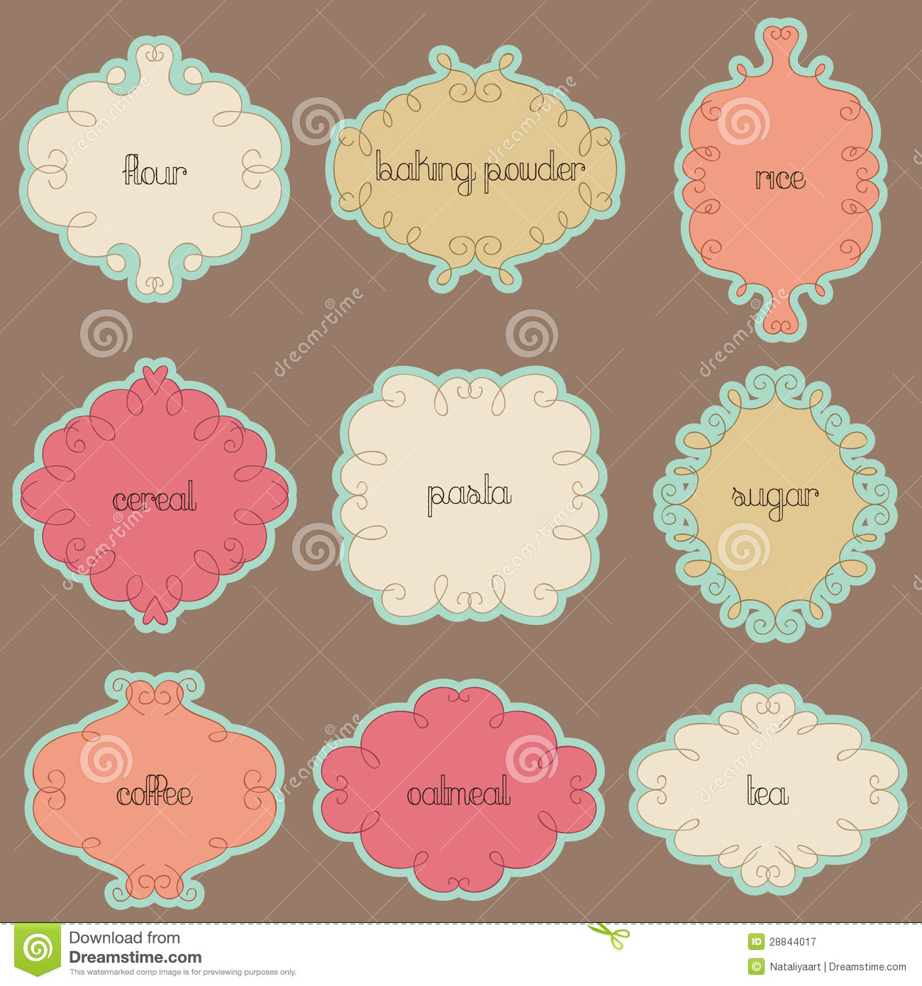 Kitchen Labels Royalty Free Stock Photography - Image: 28844017