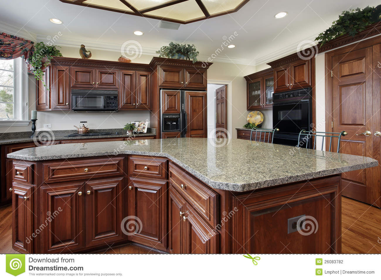 large kitchen with island kitchen with large center island stock photo image 26083782 20308