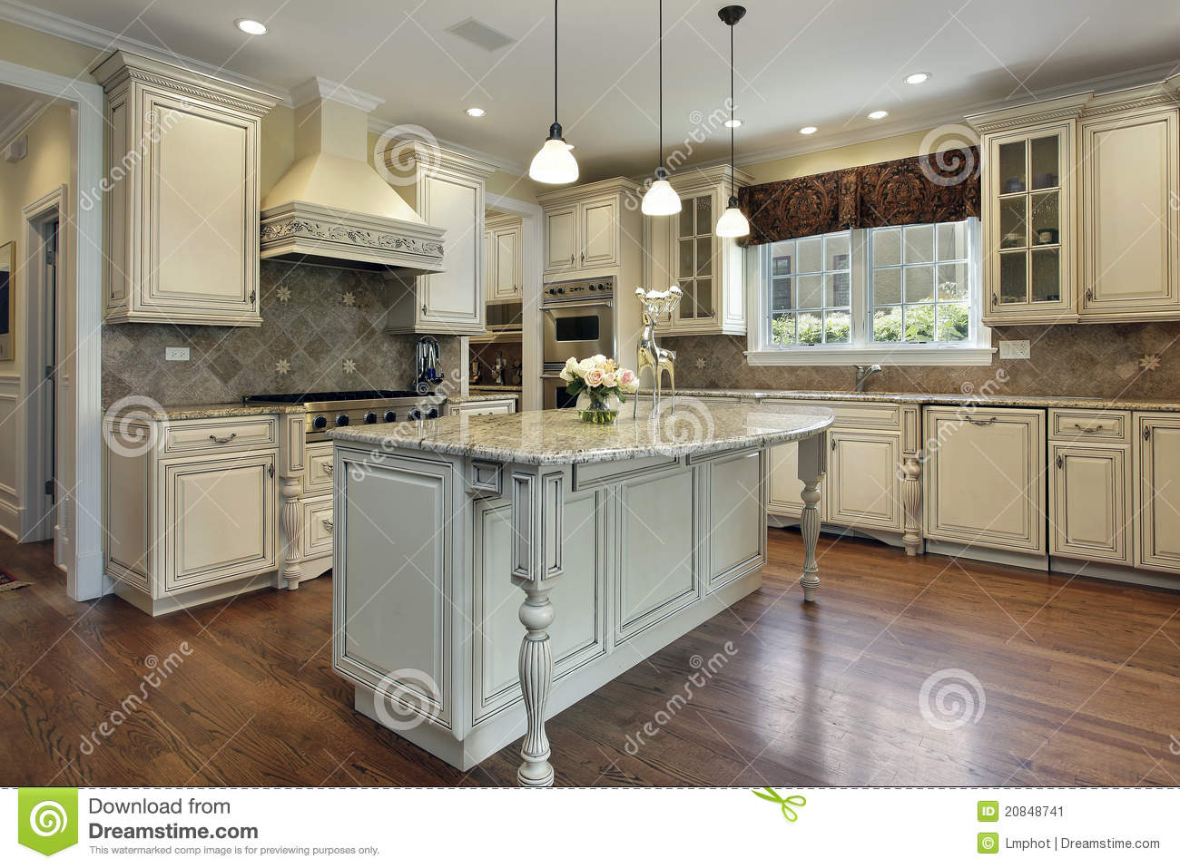 Kitchen Granite Island Kitchen With Granite Island Stock Images Image 13174134