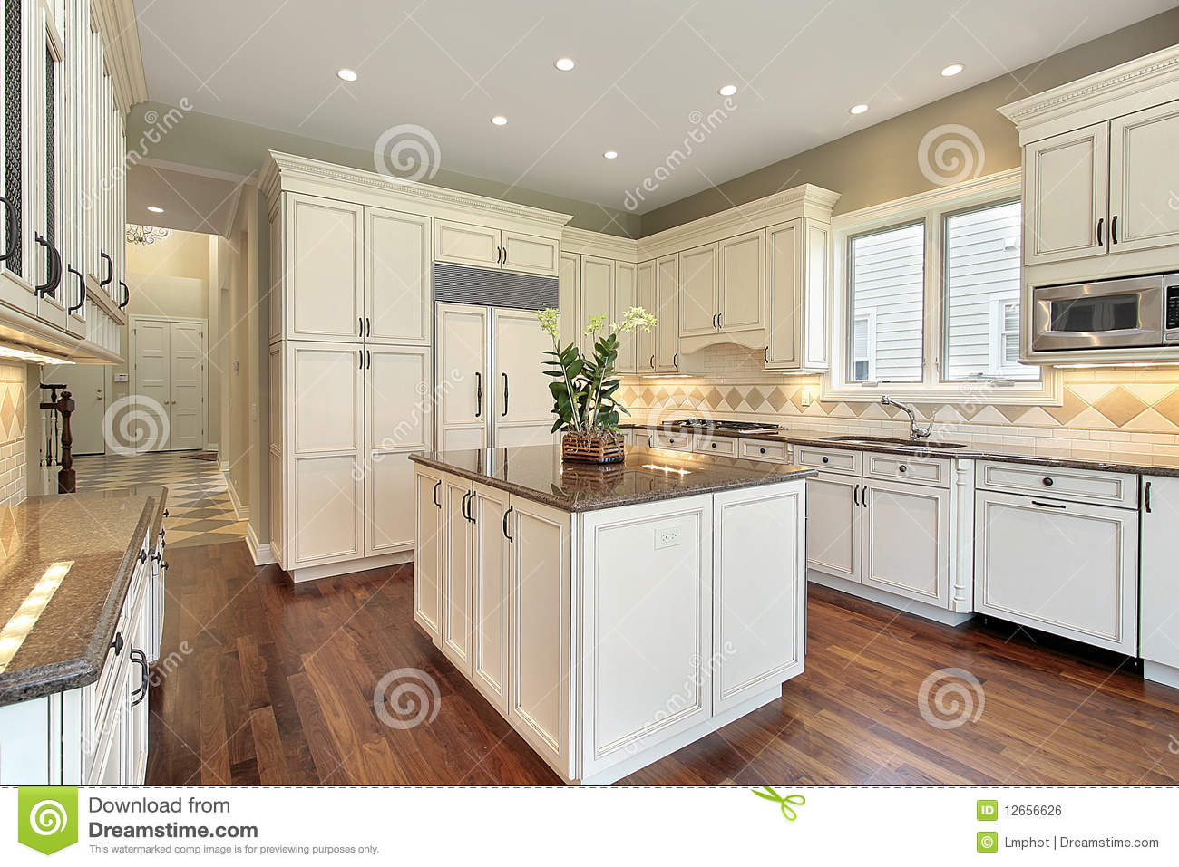 kitchen with marble island royalty free stock image image 12656626 home island kitchen