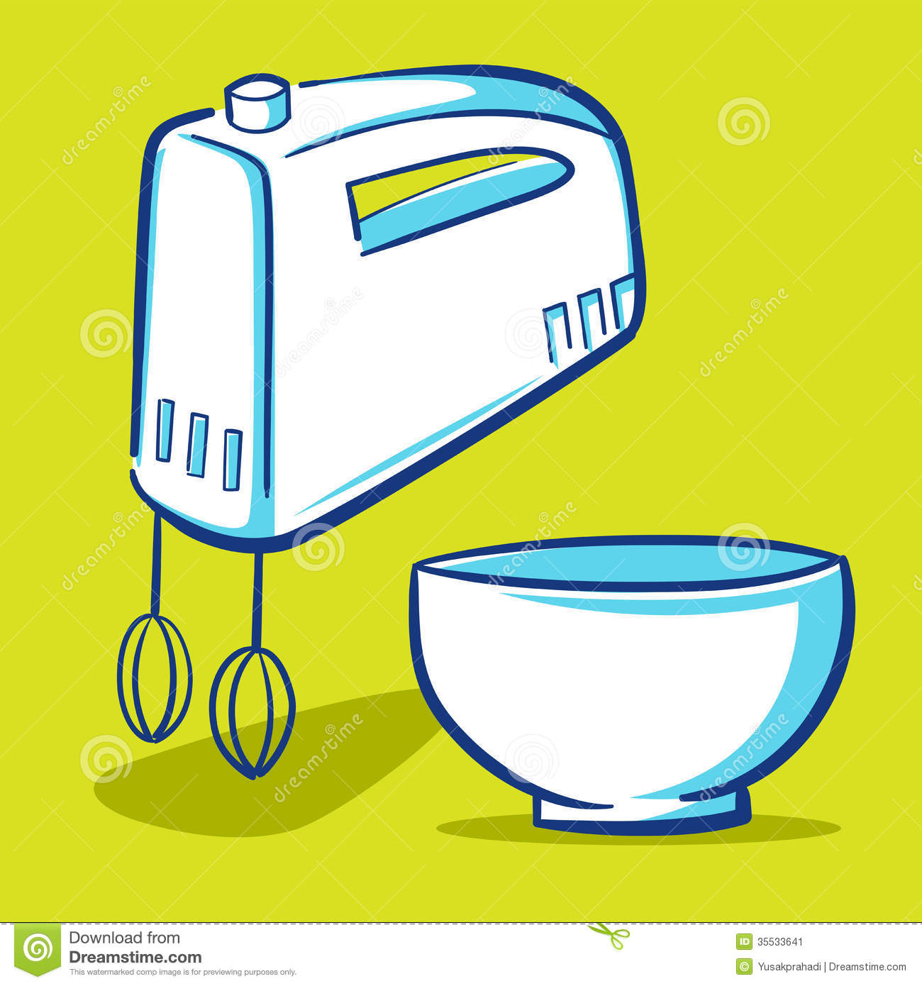 Cartoon Kitchen Mixer ~ Kitchen mixer blue series stock vector image