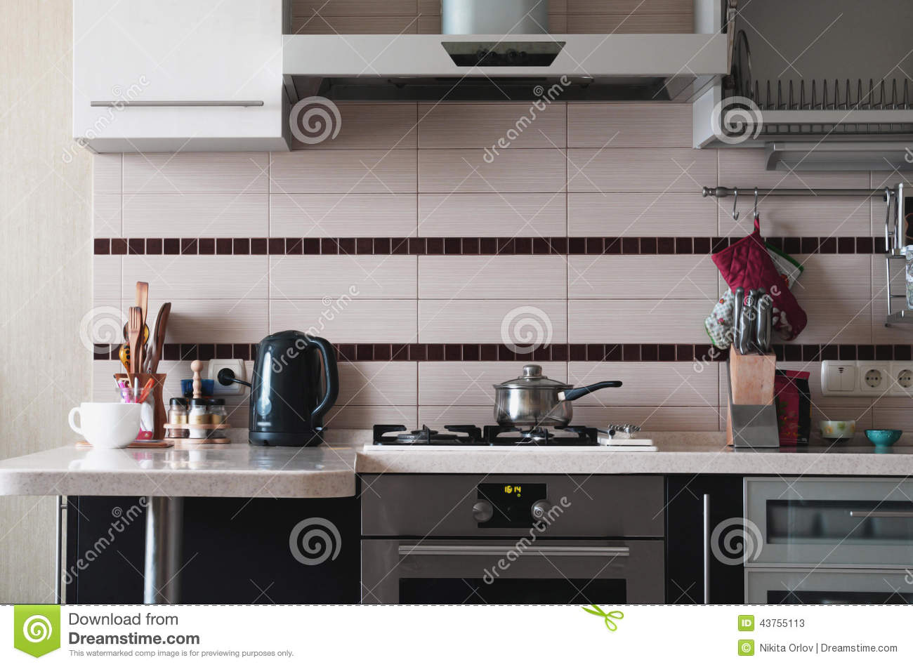Kitchen stock image  Image of food, kitchen, electricity - 43755113